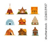 traditional buildings of... | Shutterstock .eps vector #1126015937