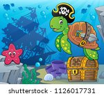 pirate turtle theme image 5  ... | Shutterstock .eps vector #1126017731