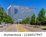 amsterdam  july 2018. the edge  ... | Shutterstock . vector #1126017947