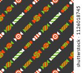sweets candy seamless pattern ... | Shutterstock . vector #1126018745
