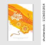happy raksha bandhan greeting... | Shutterstock .eps vector #1126021814