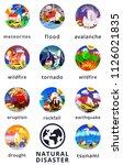 natural disaster infographics....   Shutterstock .eps vector #1126021835