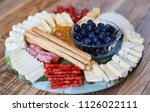 mixed meat and cheese cold... | Shutterstock . vector #1126022111