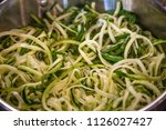 zoodles zucchini noodles close... | Shutterstock . vector #1126027427