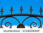wrought iron gates  ornamental... | Shutterstock . vector #1126028369