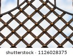 wrought iron gates  ornamental... | Shutterstock . vector #1126028375