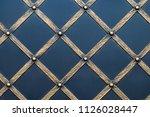 wrought iron gates  ornamental... | Shutterstock . vector #1126028447