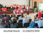 a children's holiday in the... | Shutterstock . vector #1126031504