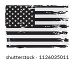 grunge flag of usa.vector... | Shutterstock .eps vector #1126035011