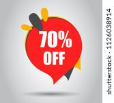 sale 70  off discount price tag ... | Shutterstock .eps vector #1126038914
