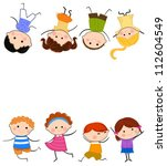 group of kids playing | Shutterstock .eps vector #112604549