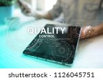 quality assurance. control and... | Shutterstock . vector #1126045751