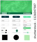 light green vector wireframe...