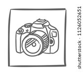camera icon vector hand drawn....