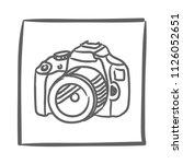 camera icon vector hand drawn....