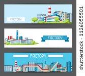 industrial factory banners.... | Shutterstock .eps vector #1126055501