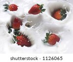 strawberry and milk | Shutterstock . vector #1126065