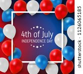 fourth of july  independence... | Shutterstock . vector #1126065185