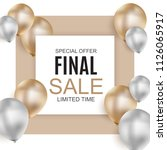 final sale balloon background ... | Shutterstock . vector #1126065917