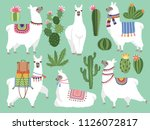 set illustrations of animals.... | Shutterstock .eps vector #1126072817