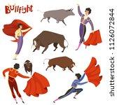 Bullfighting Characters. Vecto...