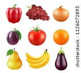 realistic vector pictures of... | Shutterstock .eps vector #1126072895