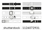 leather belt monochrome... | Shutterstock .eps vector #1126072931