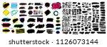black paint  ink brush stroke ...   Shutterstock .eps vector #1126073144