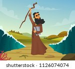 vector historical illustration... | Shutterstock .eps vector #1126074074