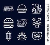 nature icon set   outline... | Shutterstock .eps vector #1126076117