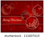 christmas background with... | Shutterstock .eps vector #112607615