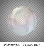 realistic rainbow color bubbles ... | Shutterstock .eps vector #1126081874
