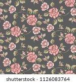 luxury flower pattern | Shutterstock .eps vector #1126083764