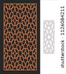 decorative panel. stencil...   Shutterstock .eps vector #1126084211