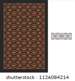 decorative panel. stencil...   Shutterstock .eps vector #1126084214