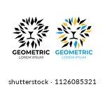logo lion vector. abstract... | Shutterstock .eps vector #1126085321