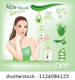 woman beautiful aloe vera ... | Shutterstock .eps vector #1126086125