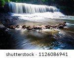 willow river long exposure... | Shutterstock . vector #1126086941