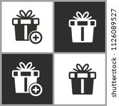 vector gift box surprise icon   ... | Shutterstock .eps vector #1126089527
