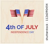 happy 4th of july usa... | Shutterstock .eps vector #1126090454