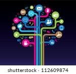social media tree | Shutterstock .eps vector #112609874