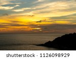 sunset at the sea | Shutterstock . vector #1126098929