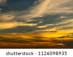 sunset at the sea | Shutterstock . vector #1126098935