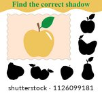 find the correct shadow of... | Shutterstock .eps vector #1126099181