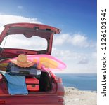 summer photo of car and free... | Shutterstock . vector #1126101941