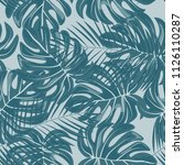 tropical seamless pattern with... | Shutterstock .eps vector #1126110287