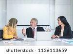 mature advisor businessman...   Shutterstock . vector #1126113659