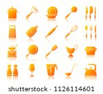 kitchenware silhouette icons... | Shutterstock .eps vector #1126114601