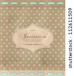 vector vintage greeting card | Shutterstock .eps vector #112611509