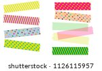 japanese washi tape in... | Shutterstock .eps vector #1126115957